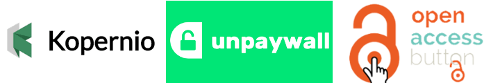 Kopernio; unpaywall, opena ccess button