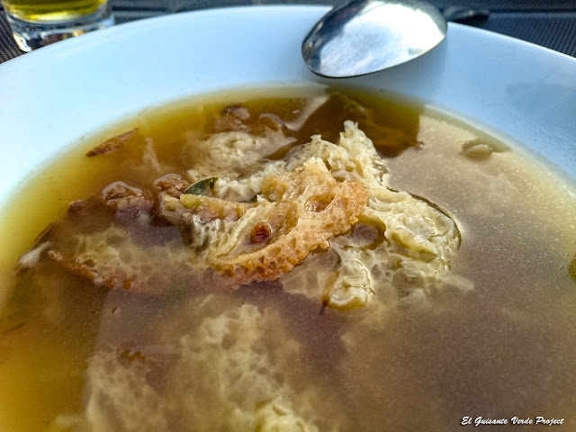 Sopa de ajo del Moulinier Janine - Sergeac, Francia por El Guisante Verde Project