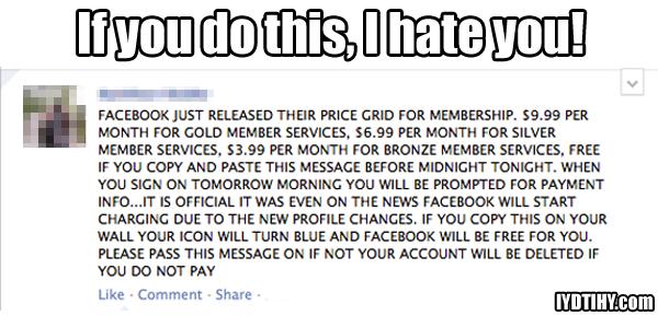 weird facebook status post