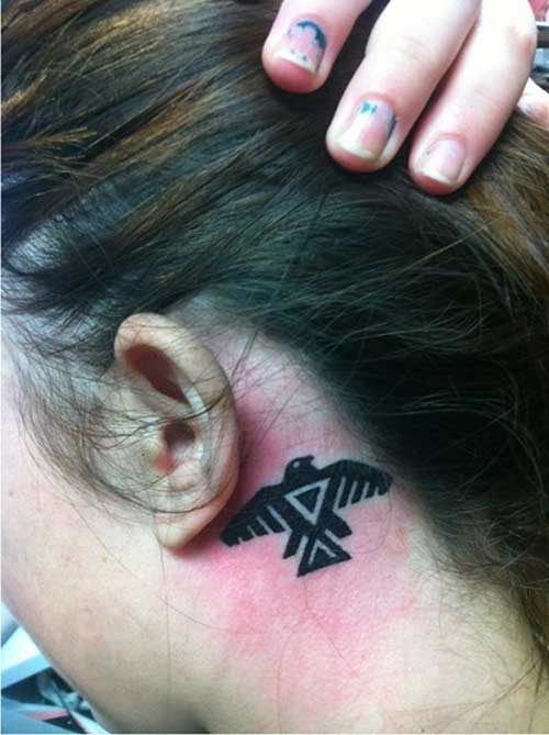 kulak arkası kartal dövmesi