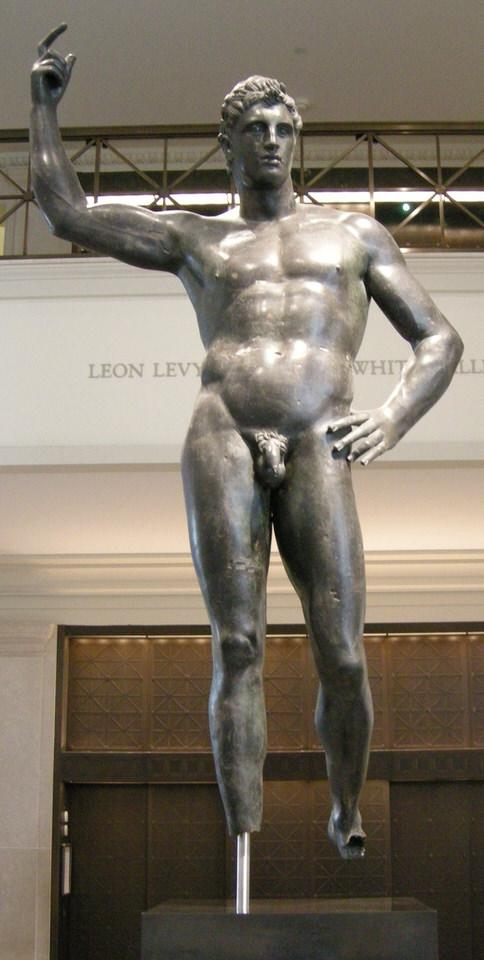 Ελληνιστικό, χάλκινο άγαλμα ενός άνδρα, από τα μέσα του 2ου-1ου αιώνα π.Χ.