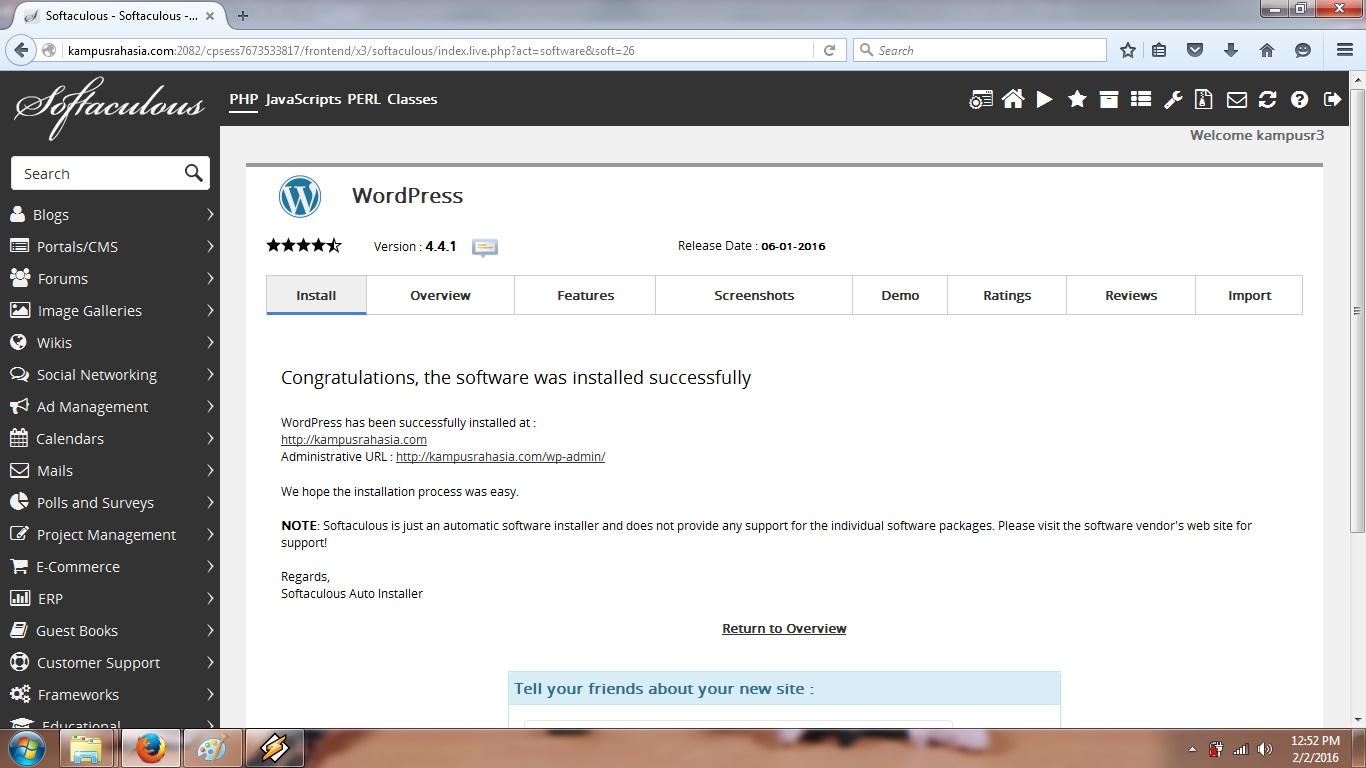 cara, email, notifikasi, berhasil, wordpress, otomatis, hosting, domain, blog, tutorial, membuat