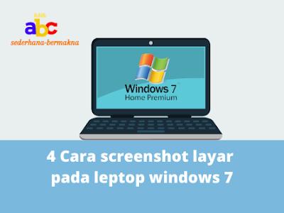 screenshot  leptop windows 7