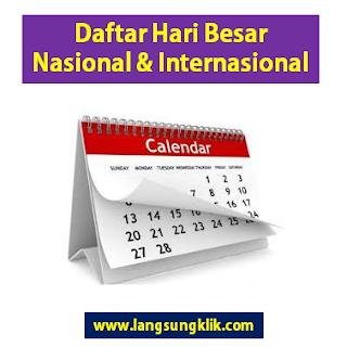 Hari Besar Nasional Indonesia dan Hari Besar Internasional