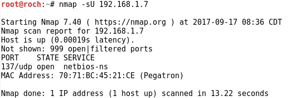 Whitelist: Counting network traffic generated by NMAP options
