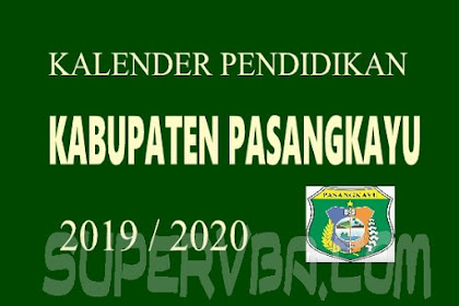 Download Kalender Pendidikan 2019/2020 Kabupaten Pasangkayu
