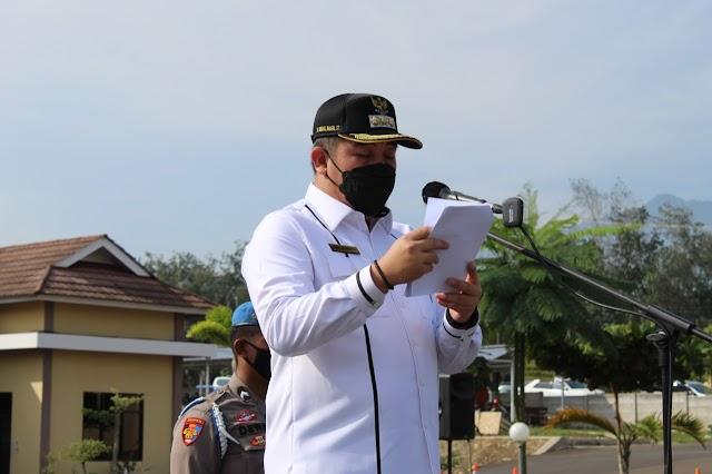 Bupati Pesawaran Pimpin Apel Gelar Pasukan Operasi Ketupat Krakatau
