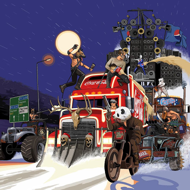 Fury Road Vs Christmas Coca Cola Truck Illustration by Jim'll Paint It