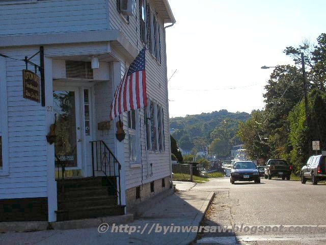 a street in Mystic, CT