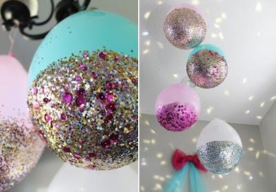 dekorasi balon ultah dengan glitter terbaru