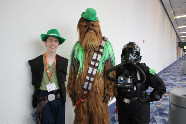 Chewbecca and friends celebrate St patricks day