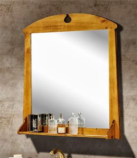 espejo rustico, espejo baño rustico, espejo colgador