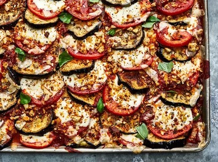 Making a Delicious Vegetarian Parmigiana.
