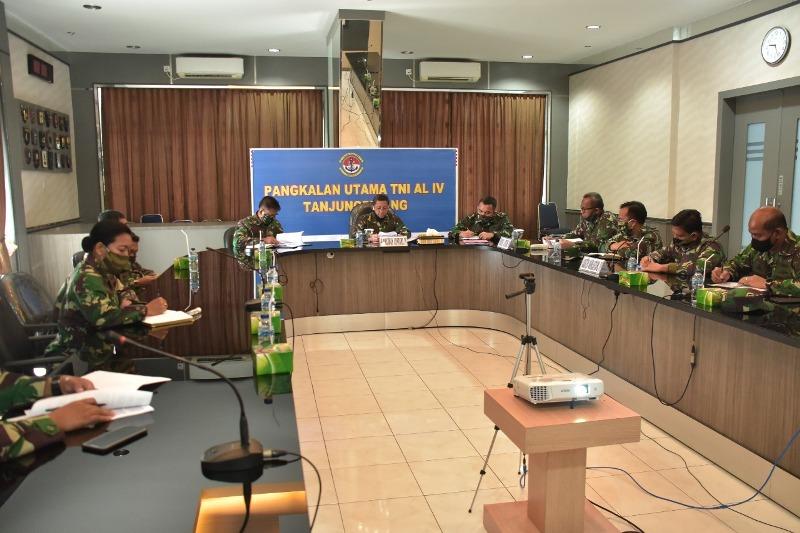 Melalui Vicon Danlantamal IV Ikuti Pembacaan Taklimat Akhir Wasrik Irjen TNI