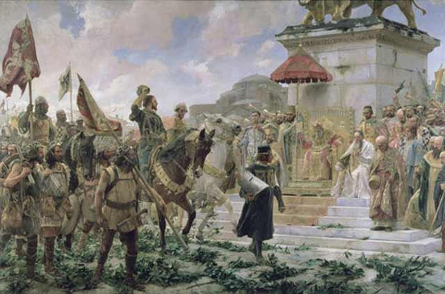 Roger de Flor arrives in Constantinople Byzantium.filminspector.com
