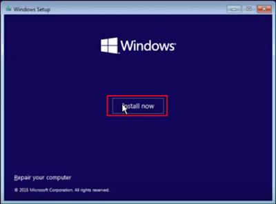 Proses Instalasi Windows