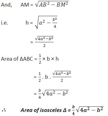 Area of an isosceles triangle