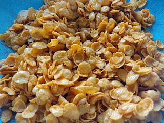 Cornflakes madu tanpa bakar