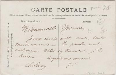 Carte postale ancienne prénom Yvonne