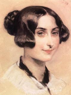 Hungarian artist Károly Brocky's portrait of  Elizabeth  Barrett Browning