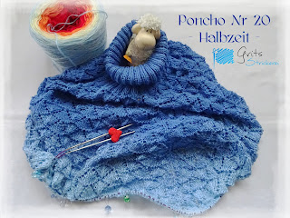 Bobbelicious stricken Poncho Lacemuster https://grits-strickerei.blogspot.com/