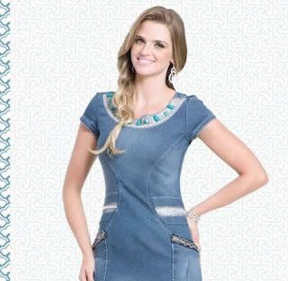 modelos de vestidos jeans para evangélicas - looks e dicas