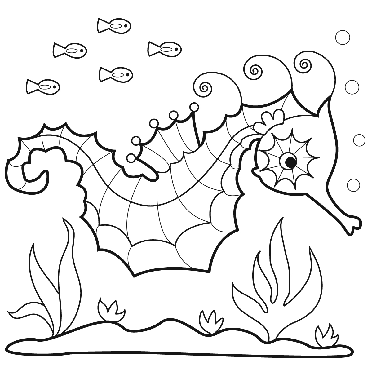 Coloring pages seahorse ~ Marisa Straccia: Sea-horses for Bunnycup