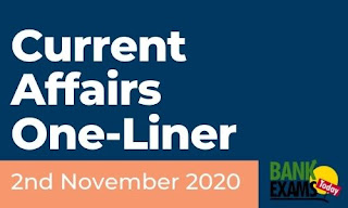 Current Affairs One-Liner: 2nd November 2020