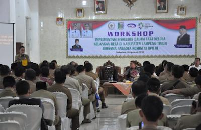 Pemkab Lampung Timur Gelar Workshop Aplikasi Sistem Keuangan Desa