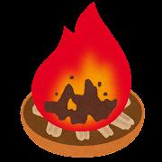 迎え火・送り火のイラスト