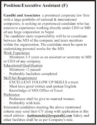 Job opportunity in Gandhi & Associates Jagiredai