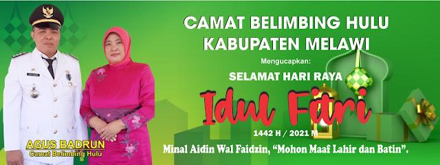 Camat Belimbing Hulu Agus Badrun ucapkan Selamat Hari Raya Idul Fitri