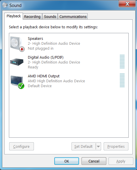 amd hdmi sound driver windows 7