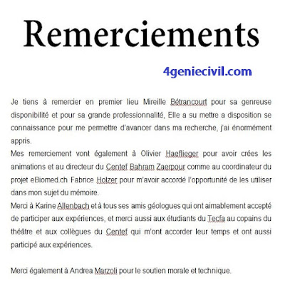 remerciement mémoire word