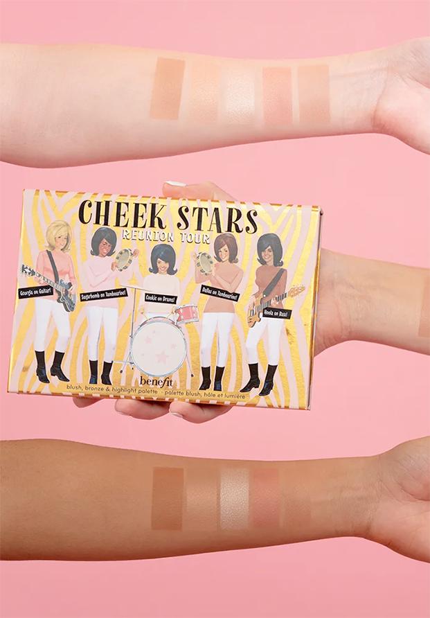 Cheek Stars Reunion Tour, nueva paleta de coloretes, iluminador y bronzer de Benefit