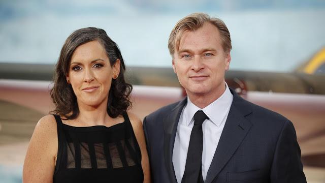 La productrice Emma Thomas et le scénariste/réalisateur Christopher Nolan (et mari de Thomas)