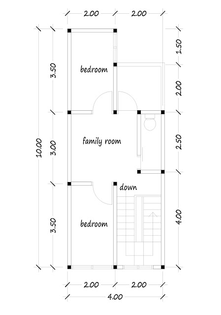 2nd floor plan of narro house 03