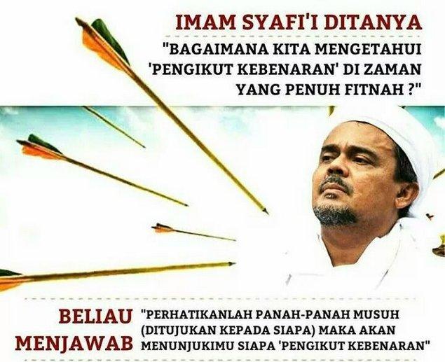 """Imam Syafi'i: Perhatikanlah panah-panah Musuh (ditujukan kepada siapa) Maka akan menunjukimu Siapa """"Pengikut Kebenaran"""""""