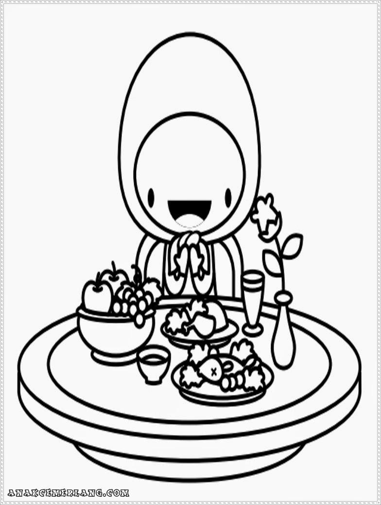 Gambar Kartun Anak Makan Top Gambar