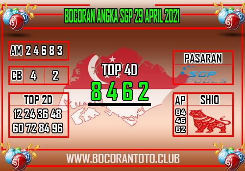 Bocoran SGP 29 April 2021