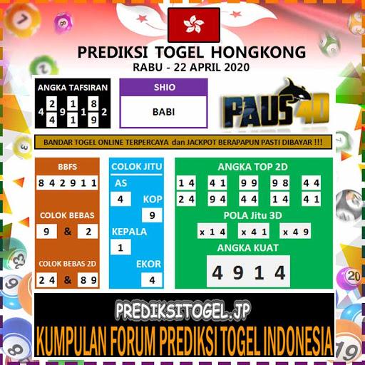 Prediksi Togel Hongkong Rabu 22 April 2020 - Prediksi Paus4D