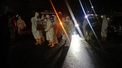 Dihari Raya Idul Fitri, BPBD Kesbangpol Padang Panjang Memakamkan 2 Pasien Covid19 Yang Meninggal