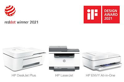 เครื่องพิมพ์ HP คว้ารางวัลการออกแบบยอดเยี่ยมบนเวทีระดับโลก จาก iF DESIGN AWARD และ Red Dot Award ประจำปี 2021