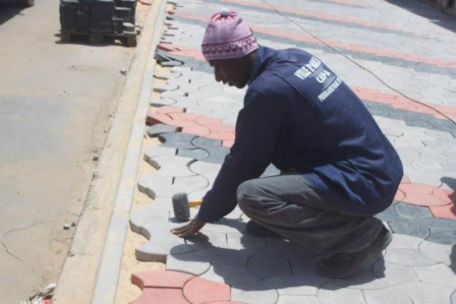 Sénégal - Le redémarrage du pavage des rues de Dakar : Projets, plan, développement, économie, pavage, rue, emploi, jeune, PSE, LEUKSENEGAL, Dakar, Sénégal, Afrique