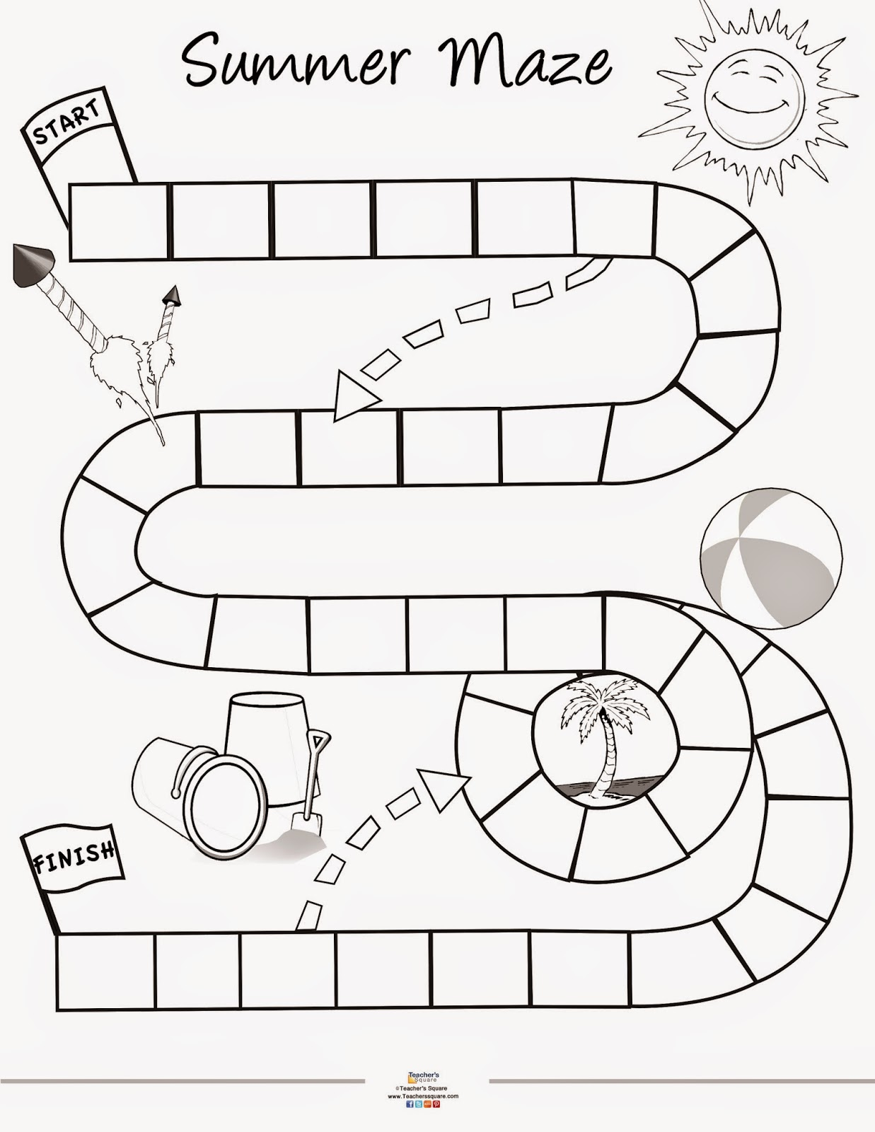 Teacher S Square Blog Summer Game Printable