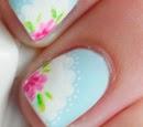http://onceuponnails.blogspot.com/2015/04/flower-doilies.html