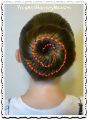 Ribbon swirl bun video tutorial