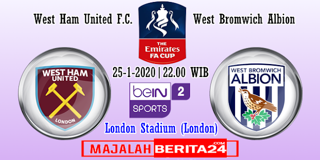 Prediksi West Ham United vs West Bromwich Albion — 25 Januari 2020