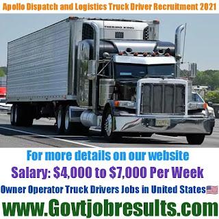 Apollo Dispatch and Logistics LLC Owner Operator Truck Driver Recruitment 2021-22