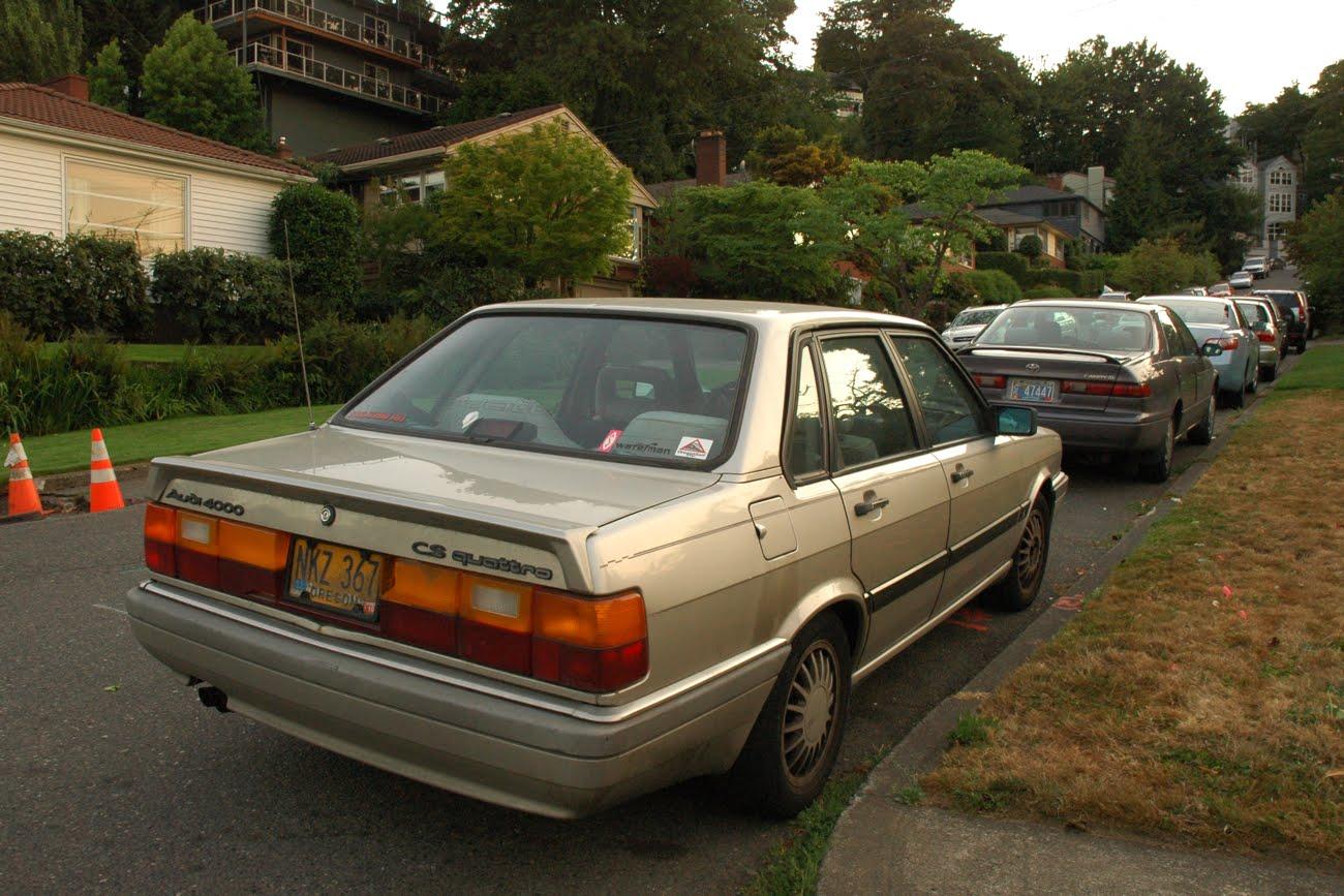 OLD PARKED CARS.: 1986 Audi 4000CS Quattro.